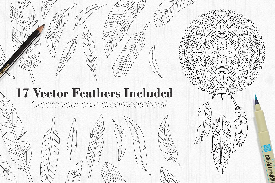 Tribal Mandala Dream Catcher Illustration Creator - Design Cuts
