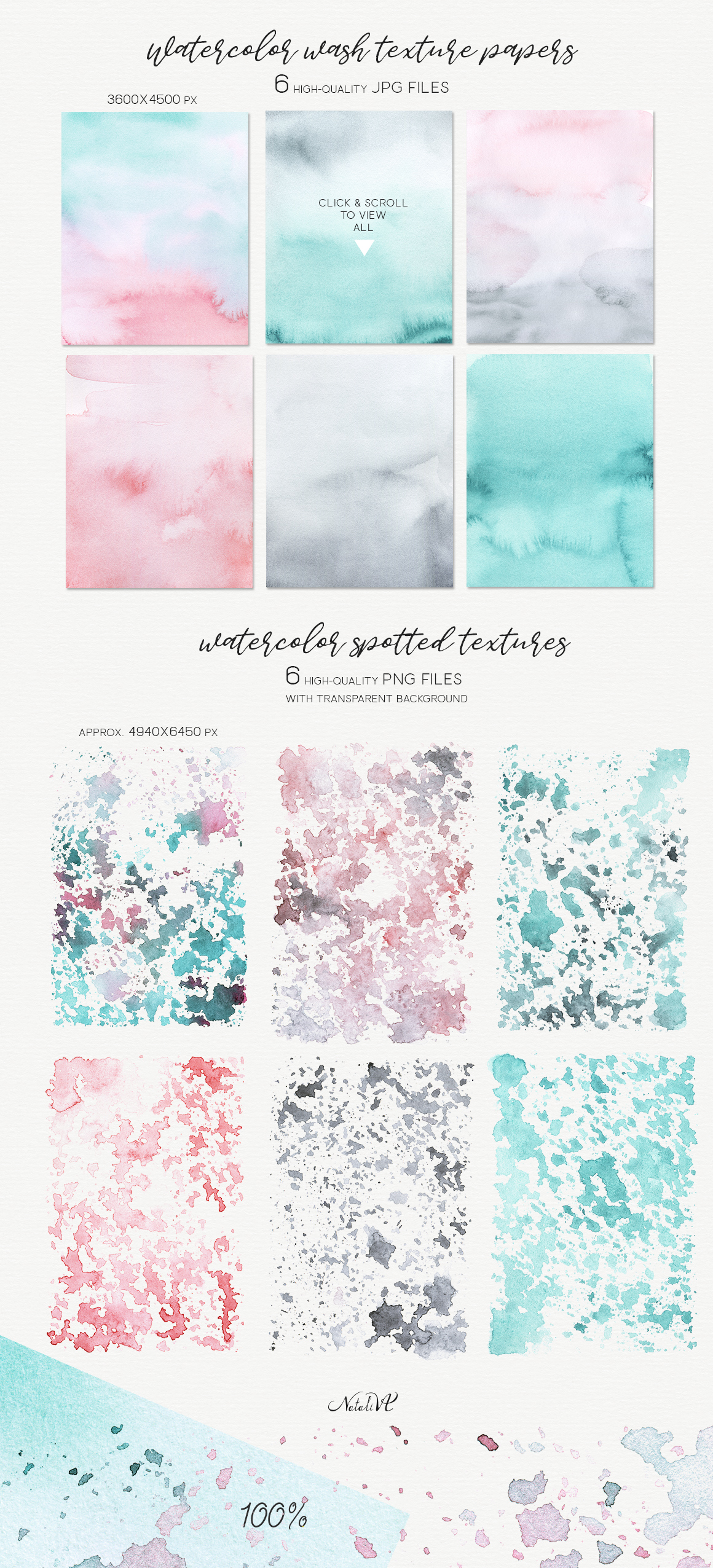 Watercolor Textures - Pastel