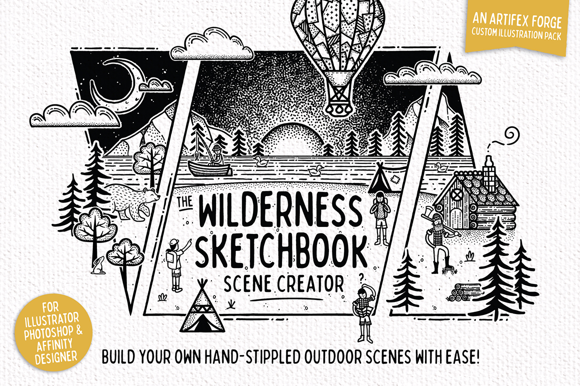 Wilderness Sketchbook Scene Creator