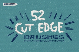 Cut Edge Brushes for Adobe Illustrator