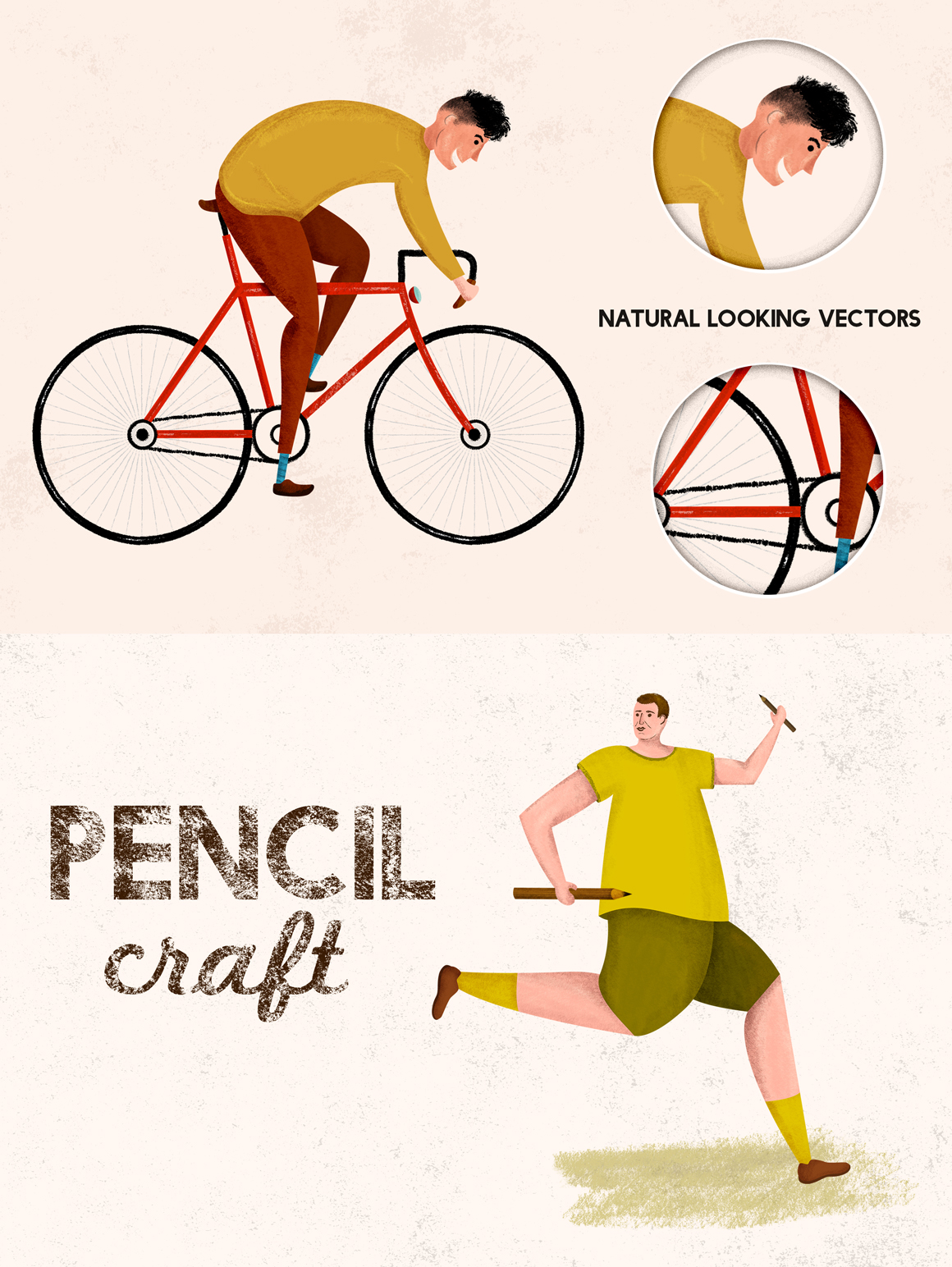Pencilcraft - Pencil Brushes for Adobe Illustrator