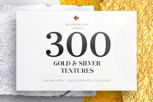 300-Gold-And-Silver-Foil-Textures-cover