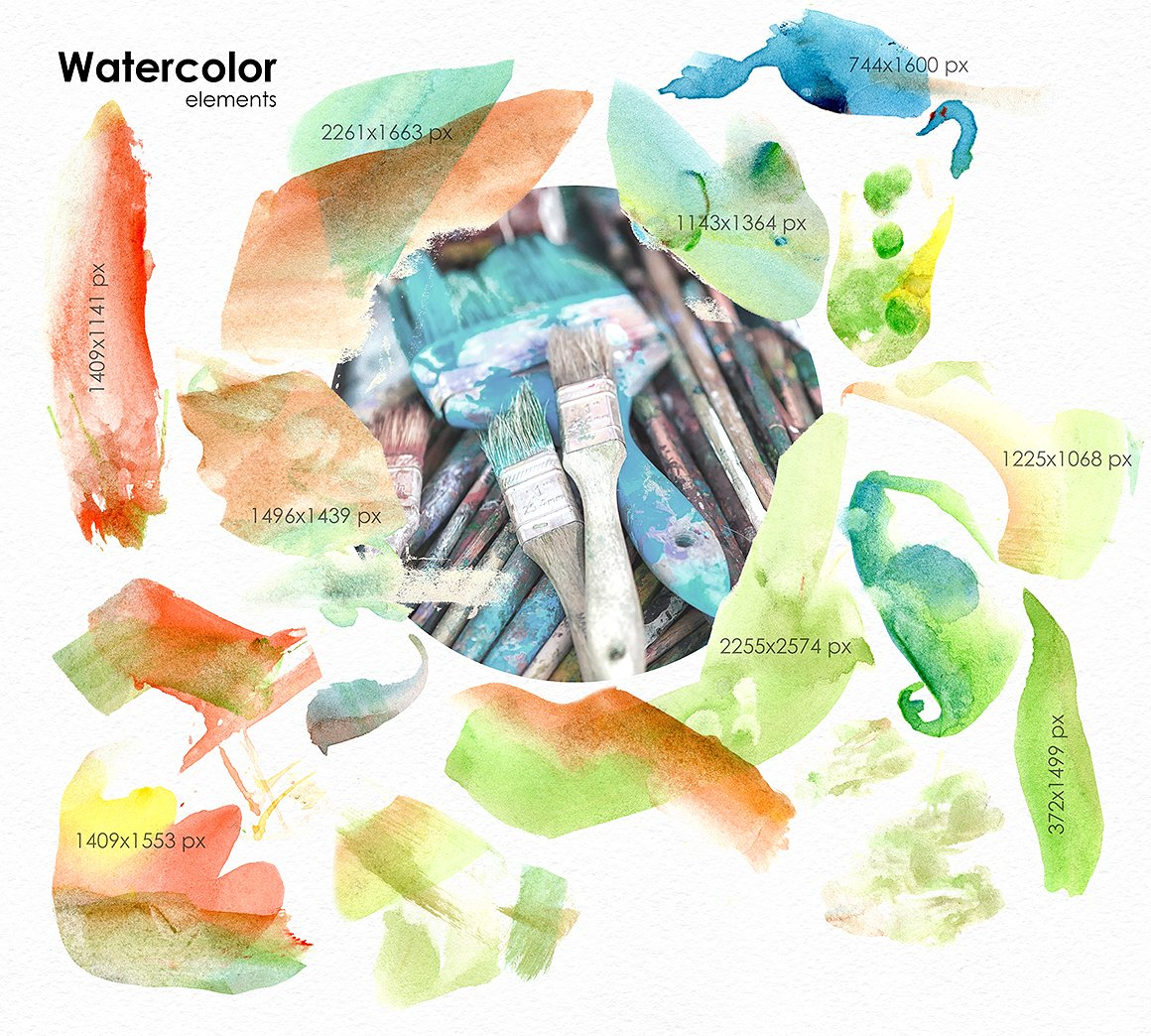 Be An Artist - Watercolor Decor Kit