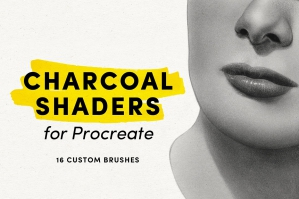 Charcoal-Shaders-Procreate-Brushes-cover