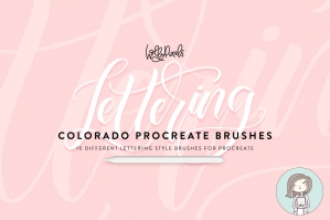 Colorado Procreate Lettering Brushes