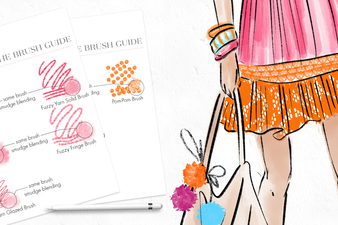 Fashion Illustration Toolset For Procreate - Design Cuts