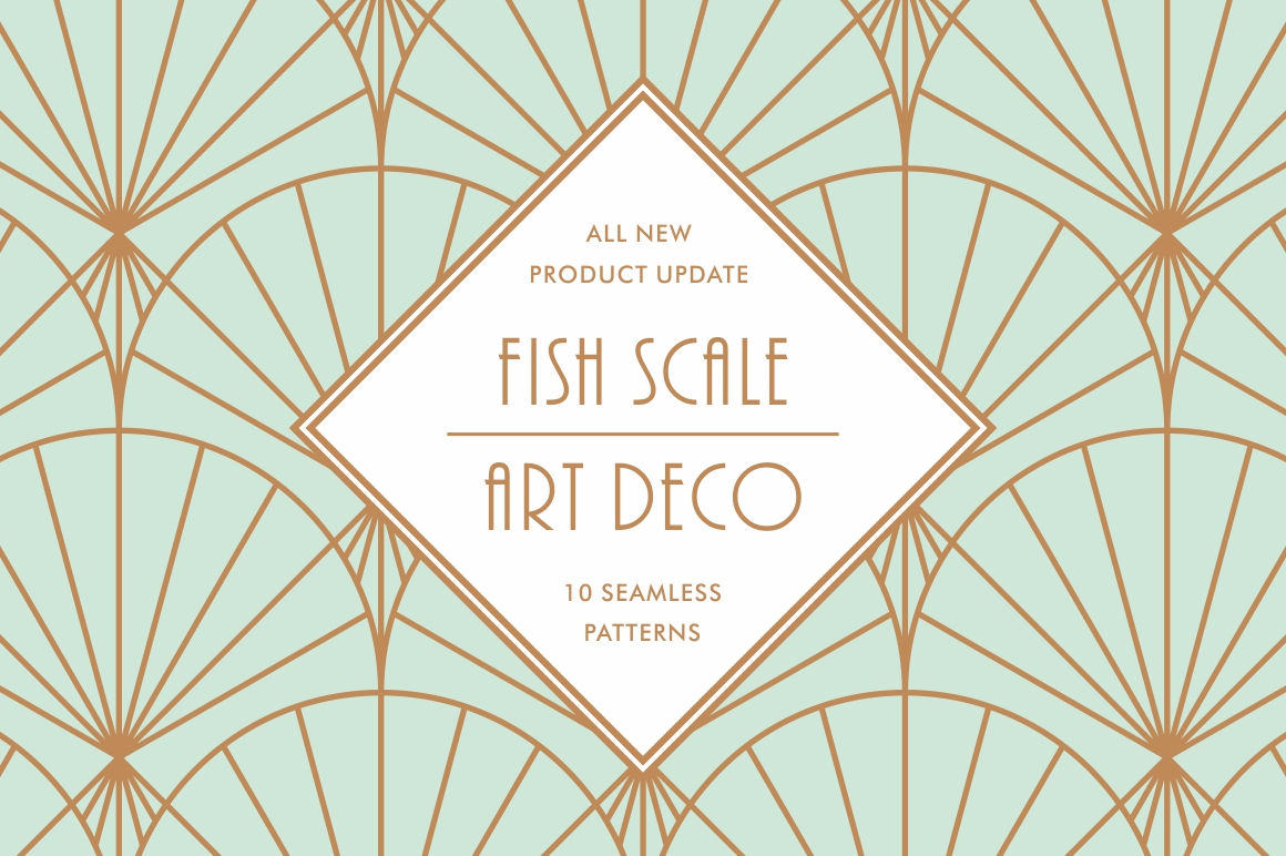 Fish Scale Art Deco Patterns