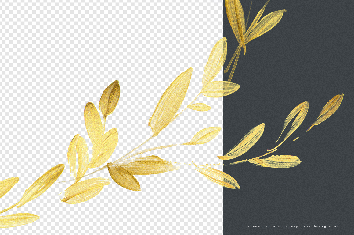 Gold Leaves Collection Design Cuts