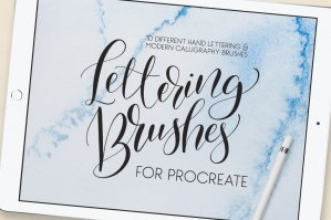 Lettering-Brush-Pack-For-Procreate-cover