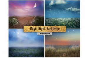 Magic Night Backdrops