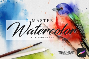 Master-Watercolor-Procreate-Brushes-cover