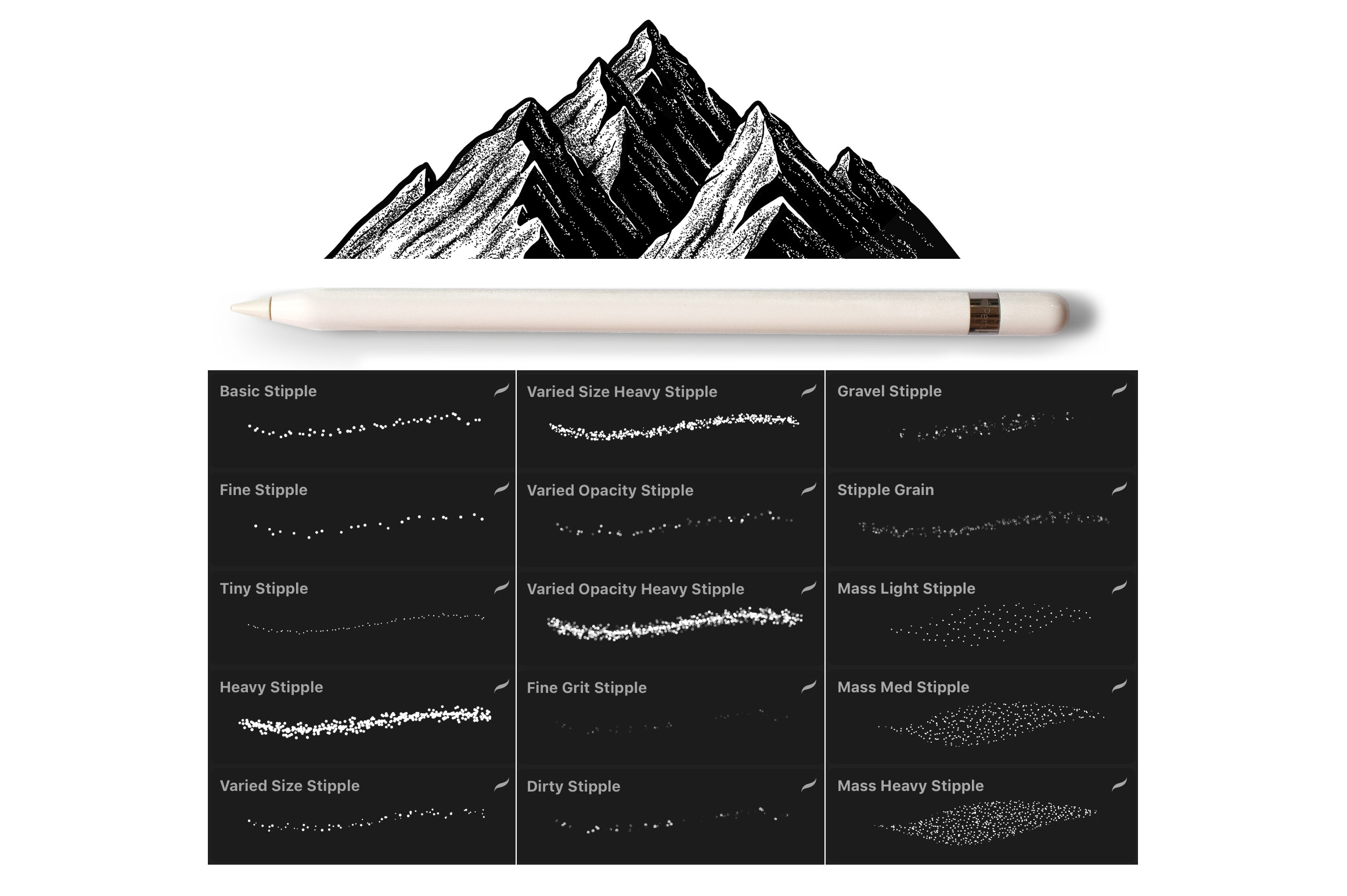 Procreate Stipple Brush Set