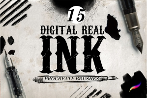 Real-Ink-Brushes-For-Procreate-cover