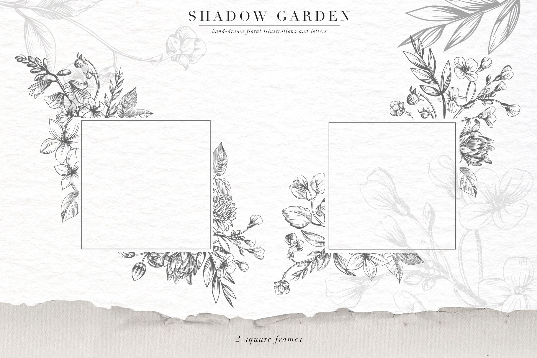 Shadow Garden Botanical Monograms