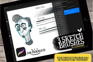 Sketch-Brushes-For-Procreate-cover