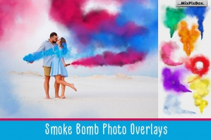 Smoke Bomb Photo Overlays