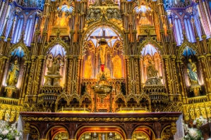 The Interior Of Basilica Notre Dame In Montreal Quebec Canada 5