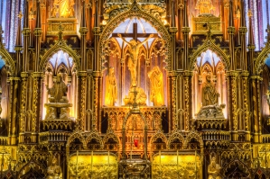 The Interior Of Basilica Notre Dame In Montreal Quebec Canada 6