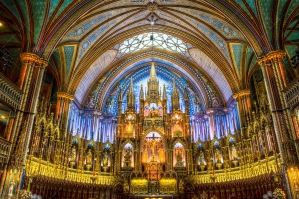 The Interior Of Basilica Notre Dame In Montreal Quebec Canada 7