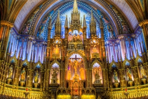 The Interior Of Basilica Notre Dame In Montreal Quebec Canada 8