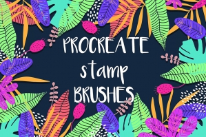 Tropical-Procreate-Stamp-Brushes-cover