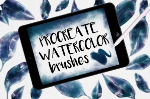 Watercolor-Brushes-For-Procreate-cover