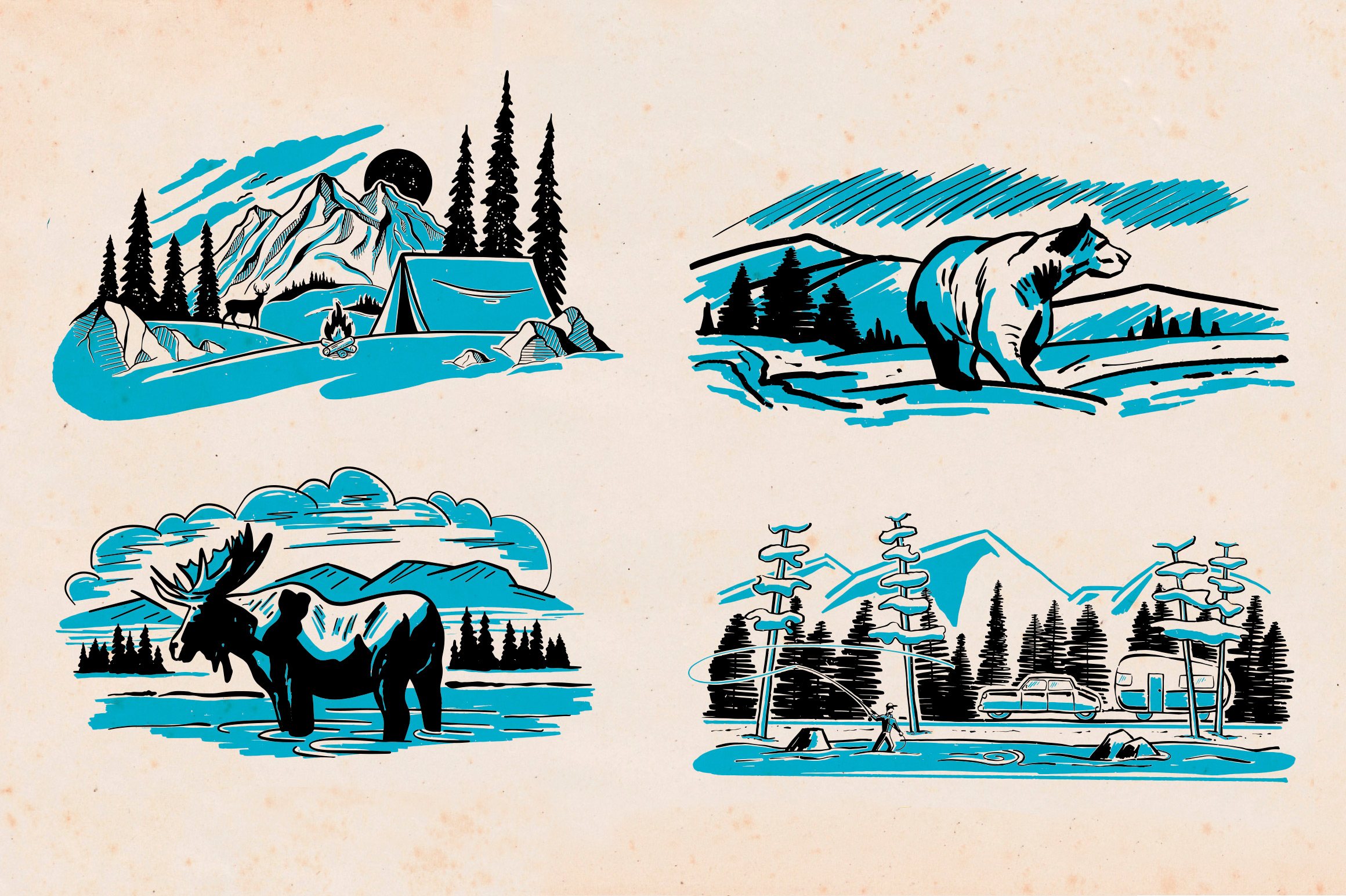 Wilderness Spot Art Collection