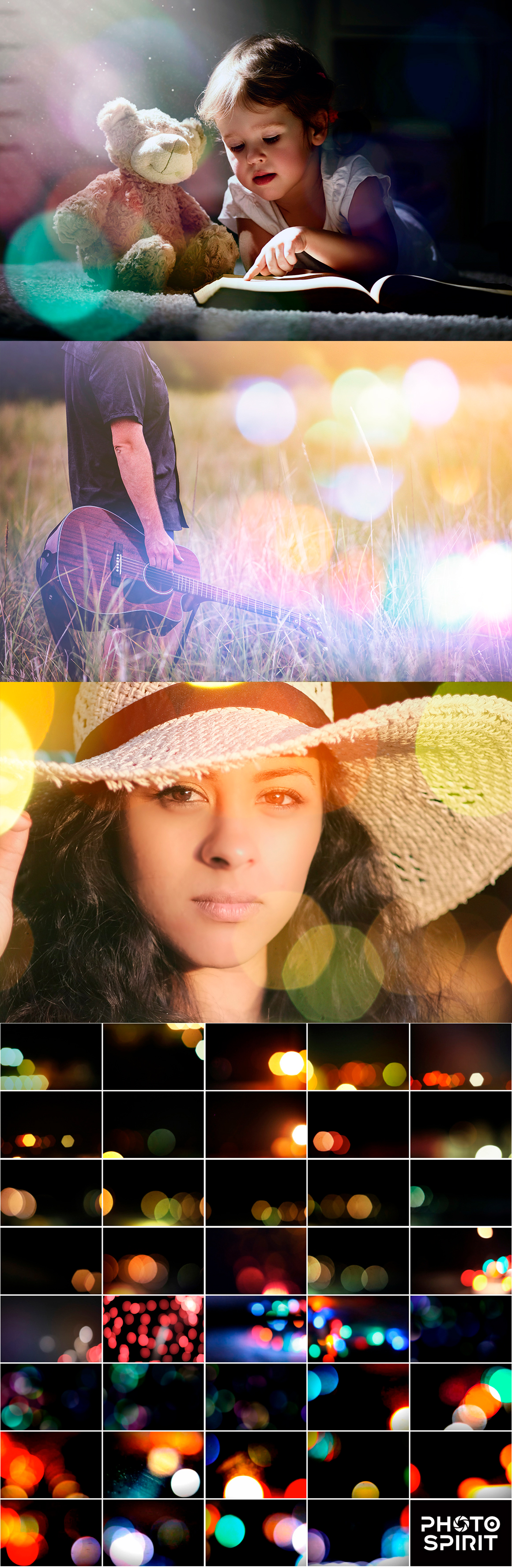Add Bokeh Overlay Photoshop Actions
