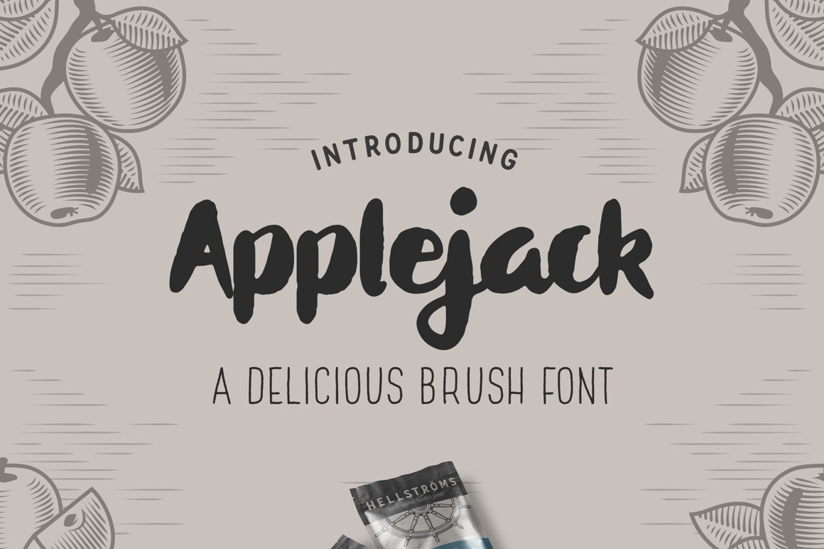 Applejack - A Belicious Brush Font