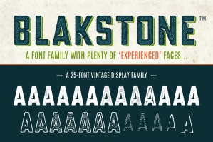 Blakstone - Vintage Display Font Family