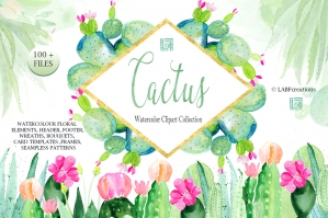 Cactus-And-Aloe-Watercolor-Clipart-cover
