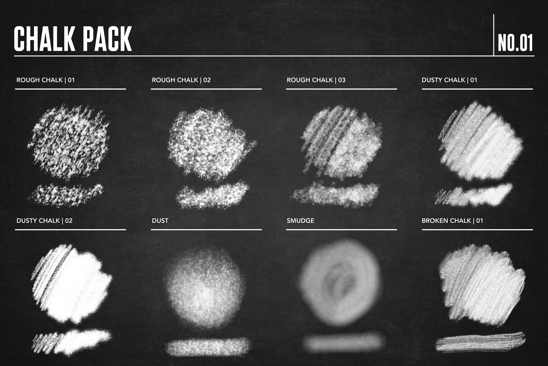 Chalk Brush Pack for Procreate