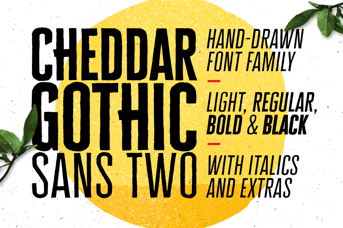 Cheddar Gothic Sans Two Font Family