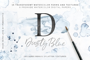 Dusty-Blue-Watercolor-Textures-cover