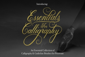 Essential-Calligraphy-Brush-Kit-For-Procreate-cover
