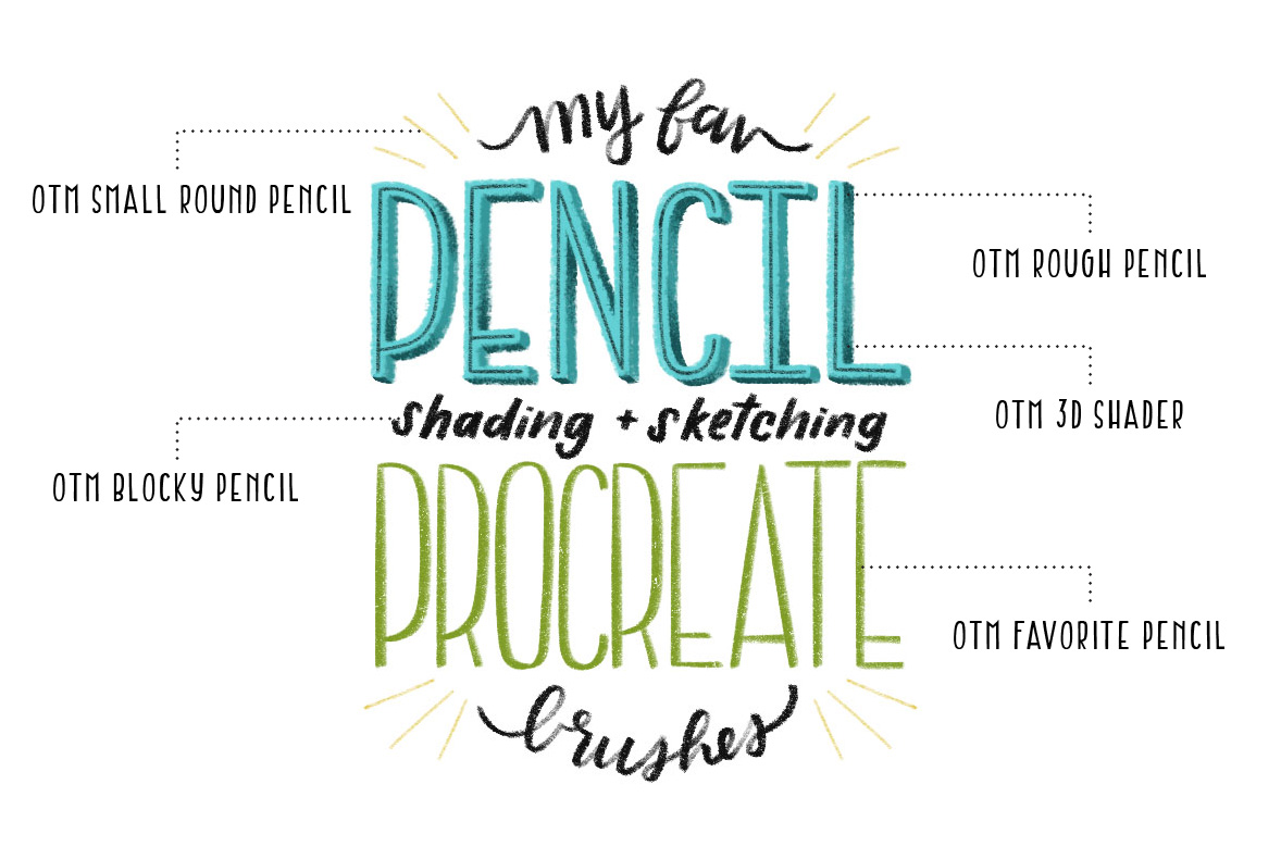 Favorite Pencil Procreate Brush Pack