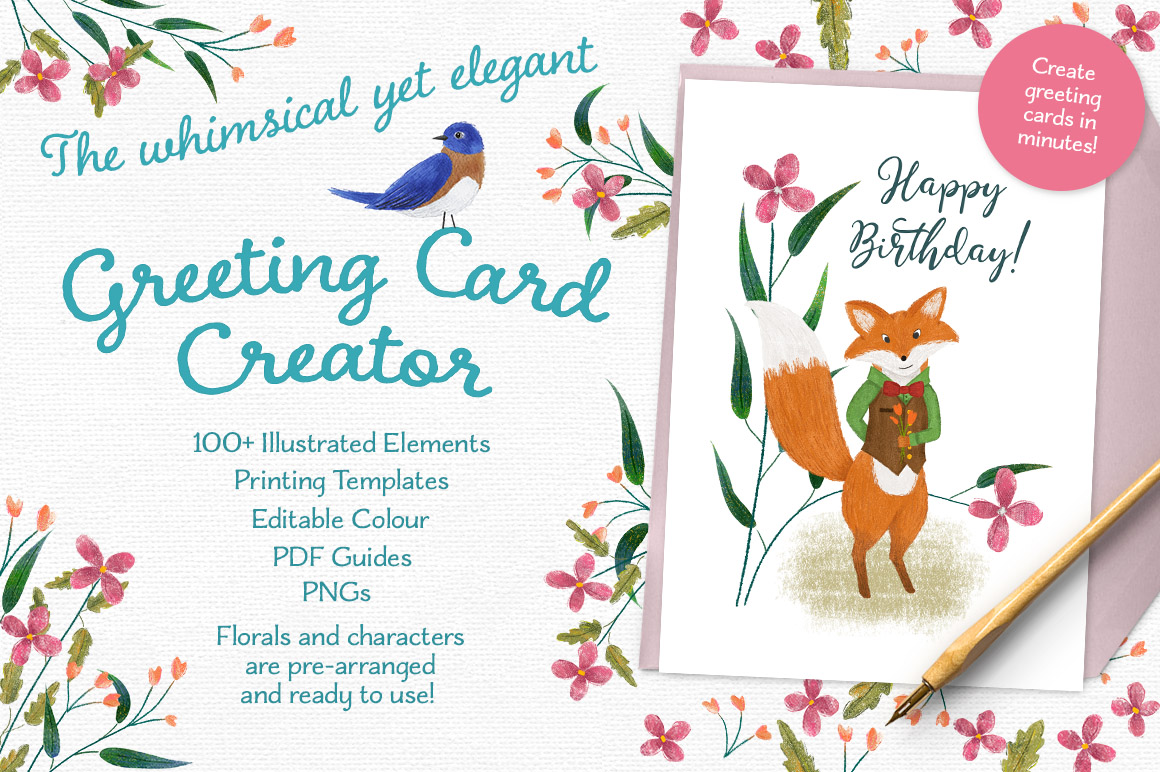 Greeting Card Creator By Doris Jetz