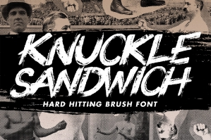 Knuckle-Sandwich-Hard-Hitting-Brush-Font-cover