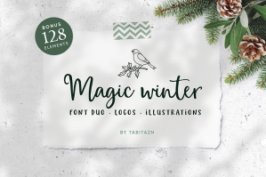 Magic-Winter-Script-Font-Duo-And-Logos-cover