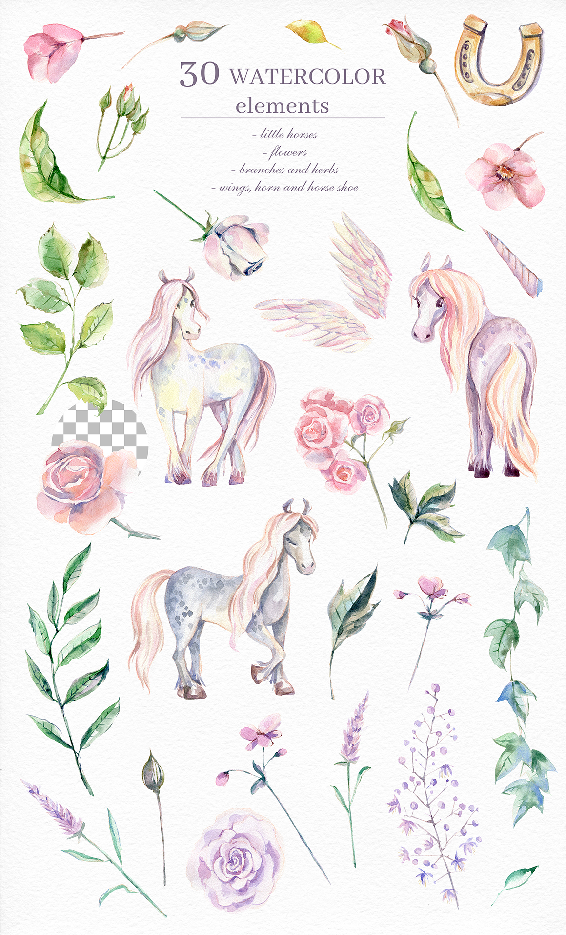My Magic Pony Watercolor Collection Dinkoobraz Illustration