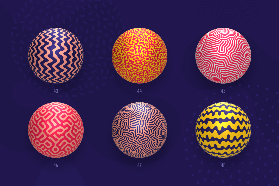 Organic Shapes – 100 seamless textures