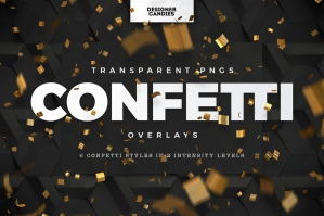 Free: .PNG Confetti Overlays