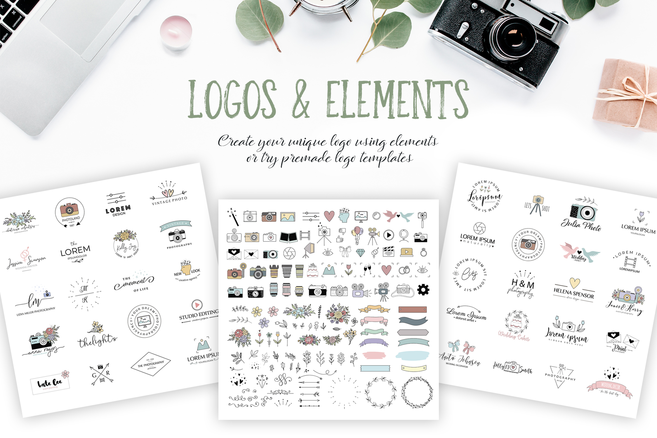 Photography Logo Pack - Elements and Templates