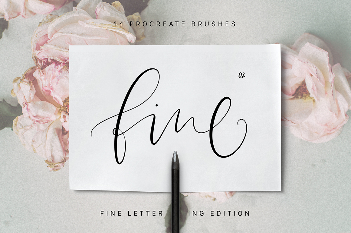 Procreate Fine Lettering Brushes