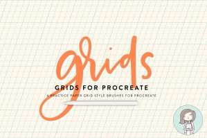 Procreate Grid Brushes For Lettering Practice