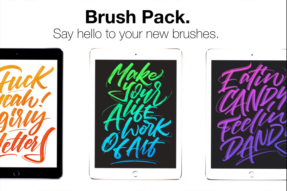 Download Procreate Lettering Brush Pack - Design Cuts
