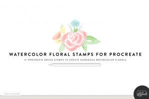 Procreate Watercolor Florals Stamp Brushes