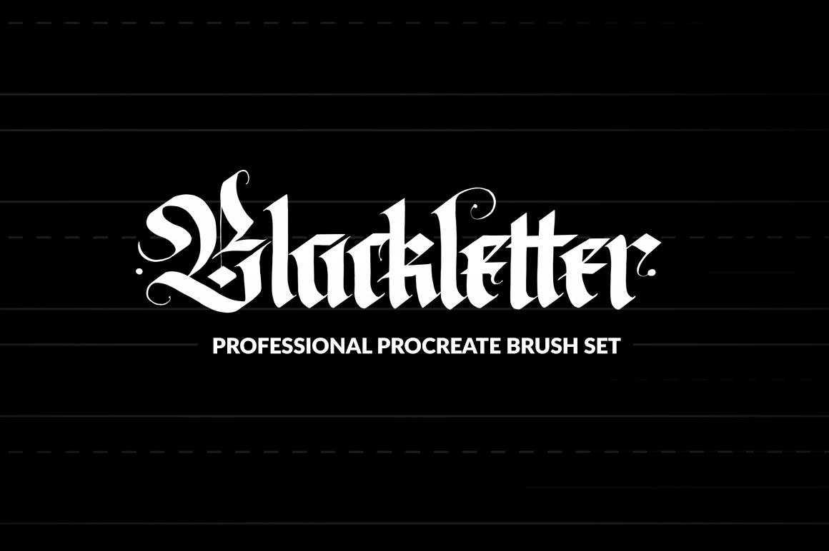 Professional Blackletter Procreate Brushes