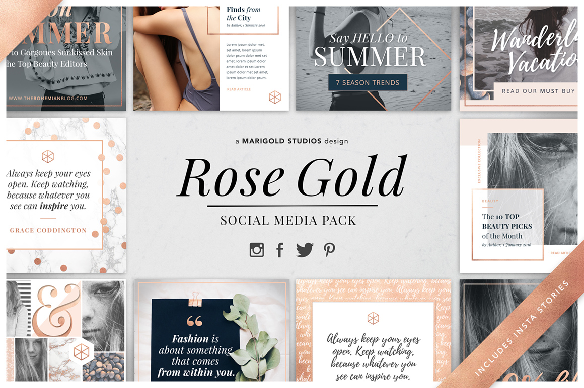 Rose Gold - Social Media Pack