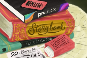 Storybook-Illustrator-Brushes-For-Procreate-cover